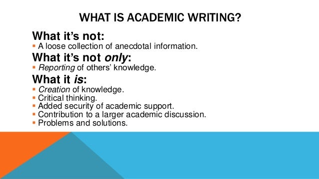 essay about academic writing Academic writing has its own set of rules and practices around a formal order or structure in which to present ideas massey university owll academic writing introduction to academic writing what is academic writing which is often more formal than in personal writing essays.