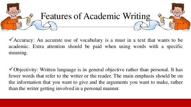 8 Characteristics of Academic Writing