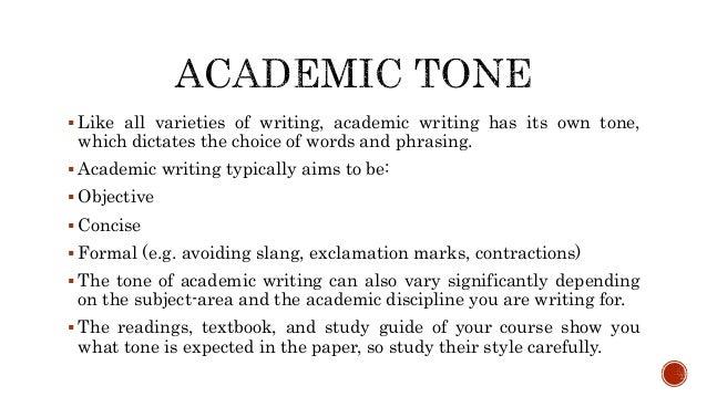 Academic objectives essay