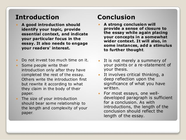 advice on academic writing 5 introduction conclusion