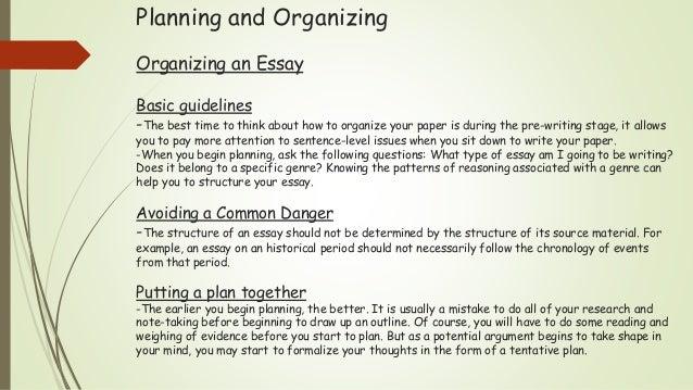 academic writing 6 planning and organizing organizing an essay