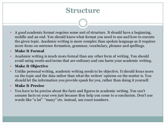 Organizing Your Social Sciences Research Paper: Academic Writing Style