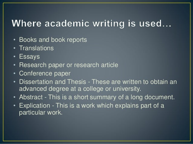 Academic essay writing workshop