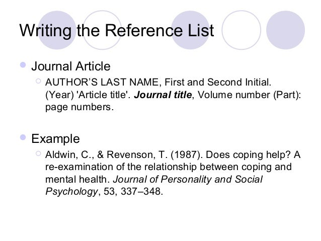 writing academic reference Referencing is an essential feature of successful academic writing at university referencing is a standardised method of formating information sources you have used in your assignments or written work.