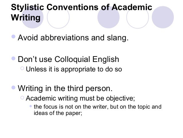 What Are Some Conventions Of Academic Writing