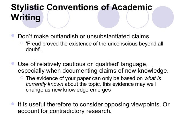 what is meant by conventions in academic writing