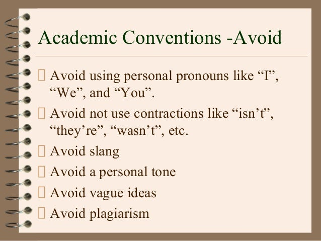 conventions of academic writing essay