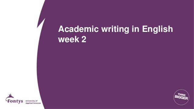 AWE: Academic Writing in English