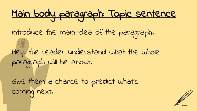 how to write college papers main body paragraphs