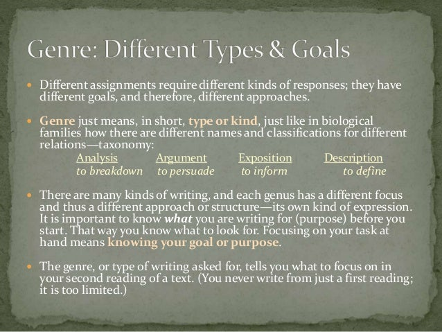 5 Basic Types of Genres in Writing
