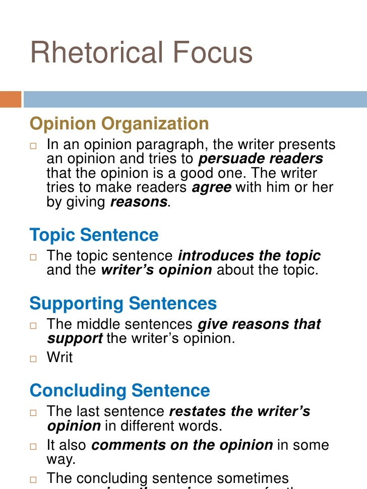 Academic writing (opinion paragraph)