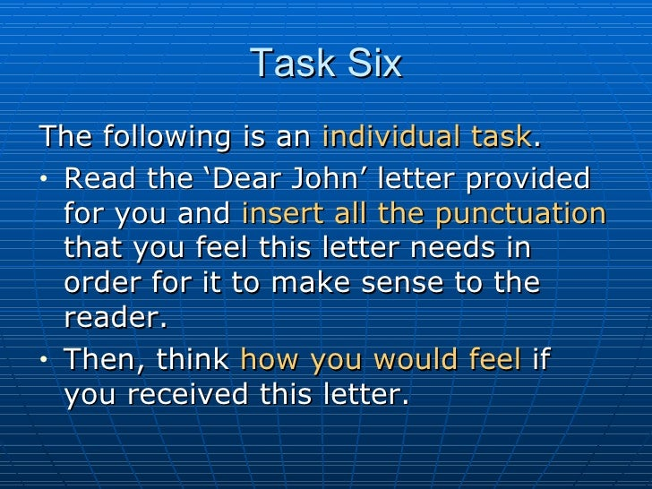 dear john letter punctuation - photo #23