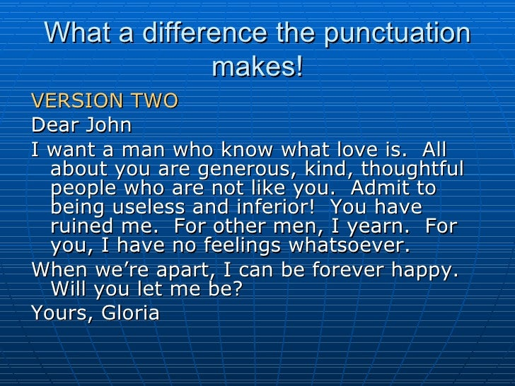 dear john letter punctuation - photo #29