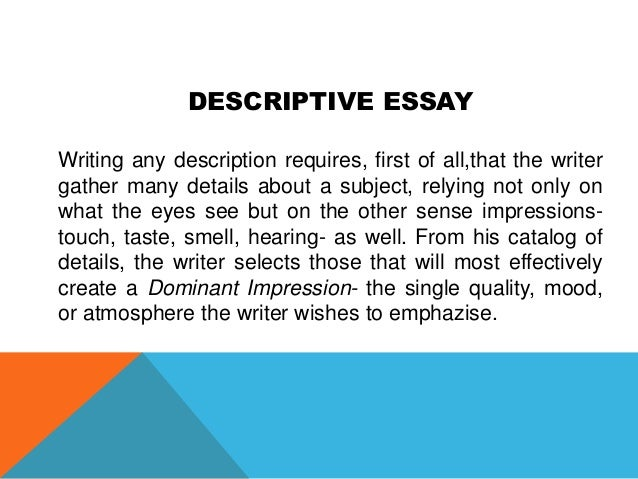 academic writing 34 descriptive essay