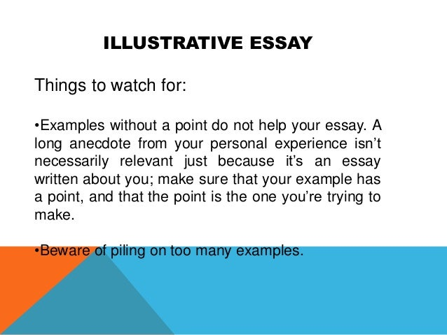 example of an illustrative essay Writing an illustrative essay guide learn how to write a great illustrative essay with ease.