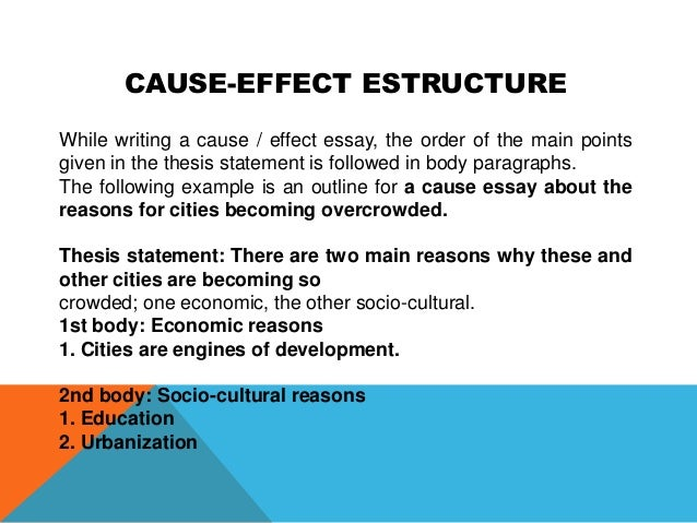 Cause effect thesis statements