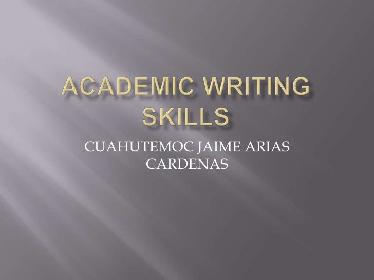 how to teach academic writing skills