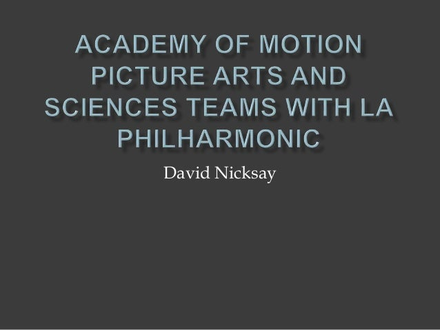 Academy of Motion Picture Arts and Sciences Teams with LA ...