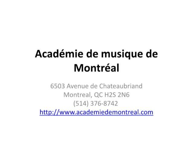 Académie de musique de montréal