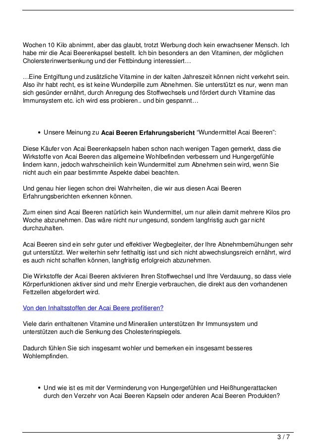 Acai Beeren Erfahrungsberichte Slide 3