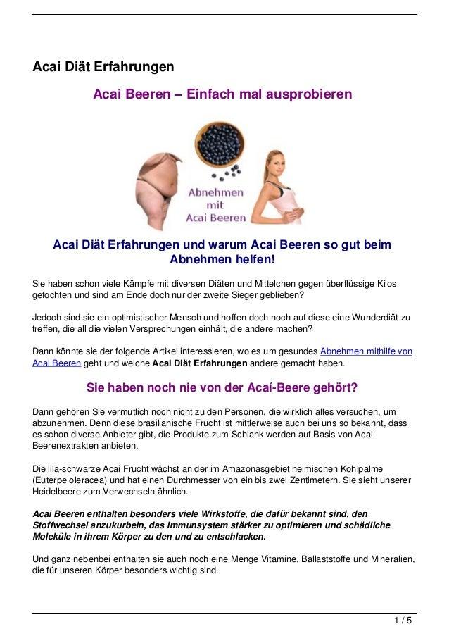 Acai Diät Erfahrungen              Acai Beeren – Einfach mal ausprobieren     Acai Diät Erfahrungen und warum Acai Beeren ...