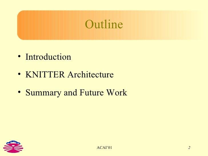 The KNITTER System: KQML for Erlang Slide 2