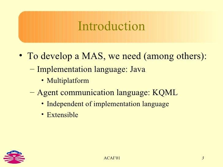The KNITTER System: KQML for Erlang Slide 3