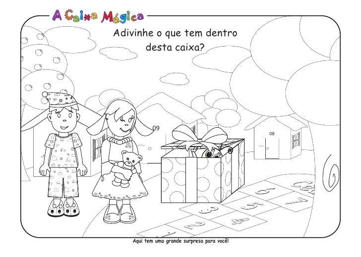 A Caixa Magica Desenho Bonecos Para Colorir Pdf