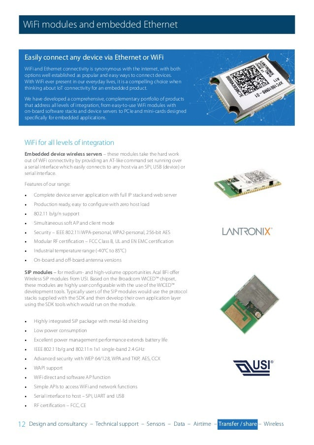 ACAL BFi IoT Solutions