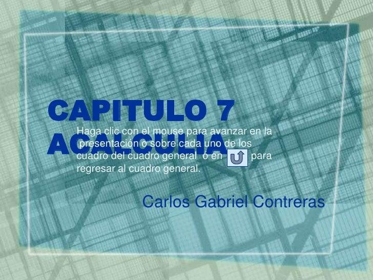 CAPITULO 7 ACALCULIA  Haga clic con el mouse para avanzar en la   presentación o sobre cada uno de los  cuadro del cuadro ...