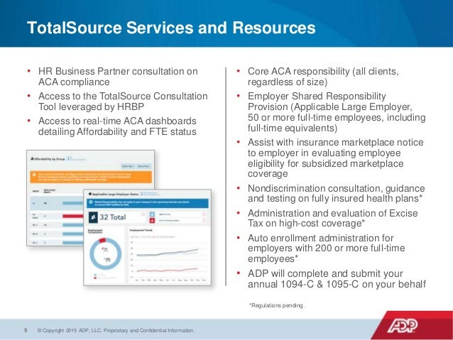 ADP Totalsource - Affordable Care Act Reporting and Compliance