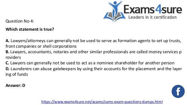 acams certification exam