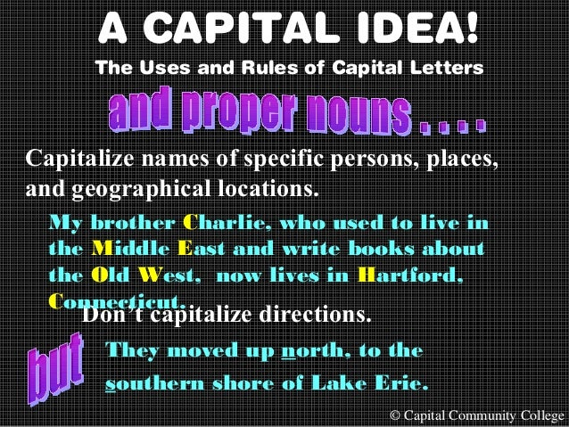 Capital Letters in Titles
