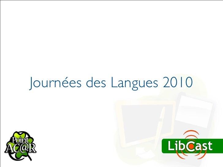 Journées des Langues 2010