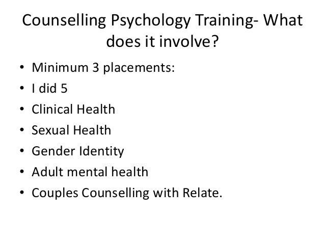 Counselling Psychology ...