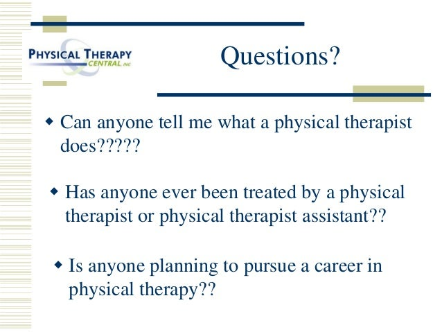 a career in physical therapy