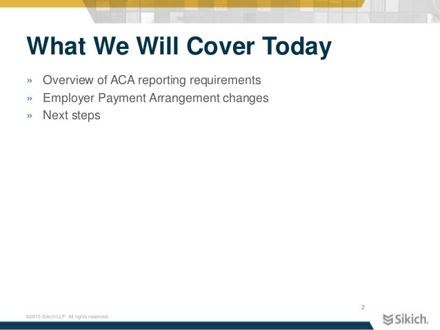 affordable care act reporting requirements
