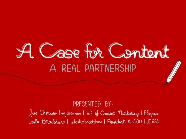 A Case for Content by Eloqua and JESS3