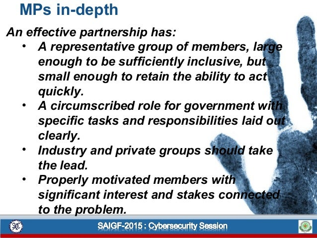 MPs in-depth An effective partnership has: • A representative group of members, large enough to be sufficiently inclusive,...