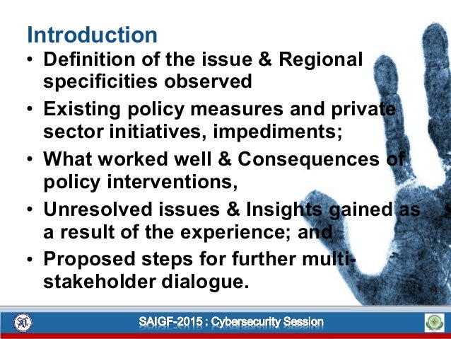 Introduction • Definition of the issue & Regional specificities observed • Existing policy measures and private sector ini...