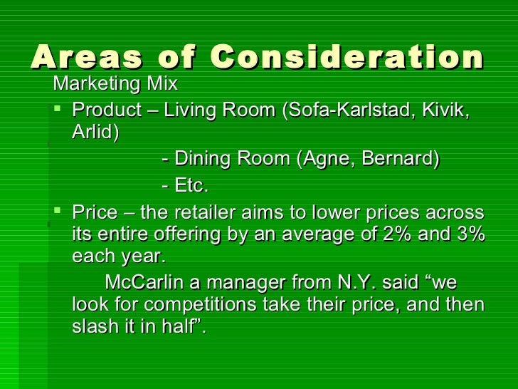 areas of consideration in case study example