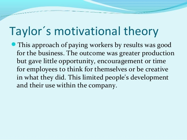 suggest any suitable motivational theory for it industry