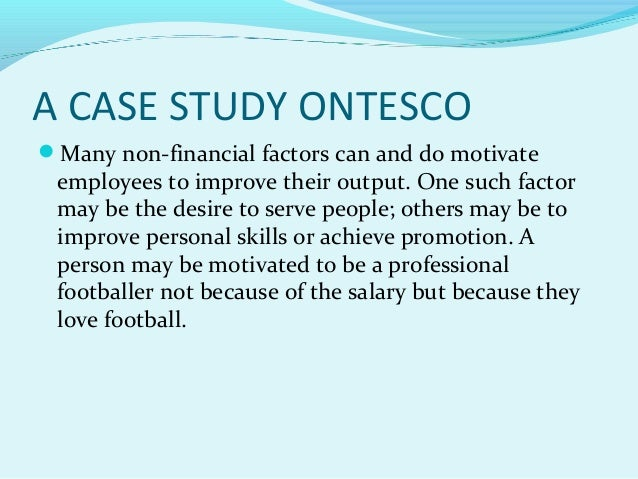 motivating employees case study p