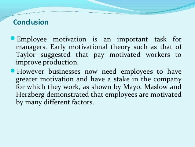 case study on motivation of employees
