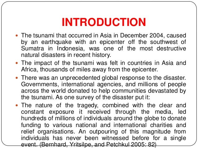 Tsunami Disaster Management Case Study - Images All ...