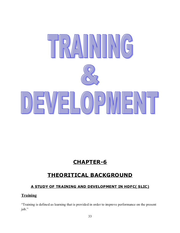 study on training and development in The master of training and development offers a range of different durations depending on your previous studies:.