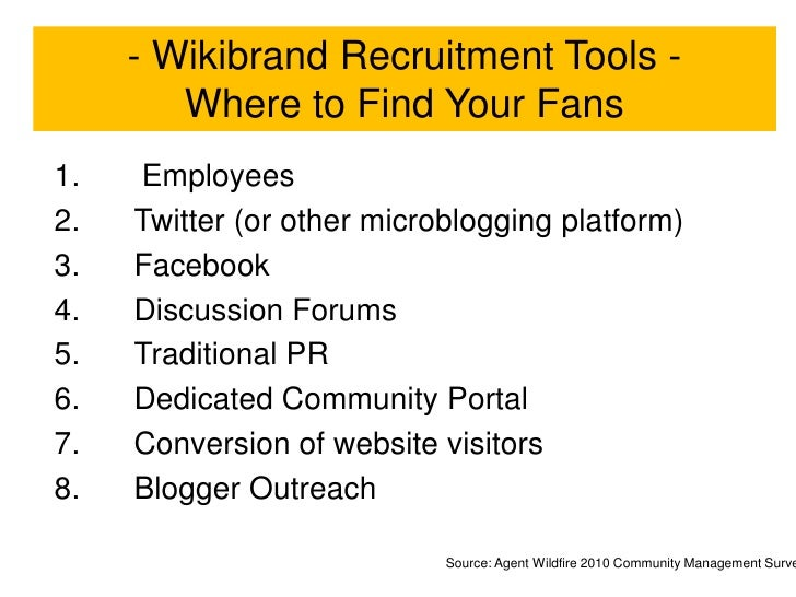 Forget Marketing's 4Ps…<br />Embrace the Wikibrand 13Es<br />Mission<br />Drivers<br />Would you recommend my brand to a f...