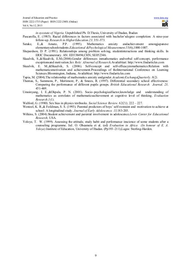 Evaluation criteria for bachelor thesis