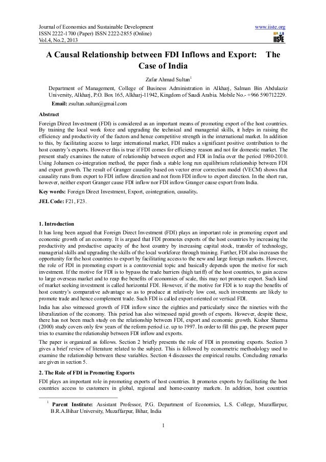 Journal of Economics and Sustainable Development                                                     www.iiste.orgISSN 222...