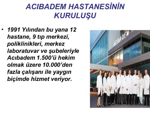KADIKÖY HASTANESİ• 1991 yılında Acıbadem Sağlık Grubu'nun ilk hastanesidir. Acıbadem Kadıköy Hastanesi, Acıbadem Sağlık Gr...